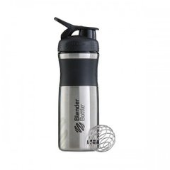 Шейкер Stainless Steel c шариком, Black/Teal, Blender Bottle, 820 мл - фото