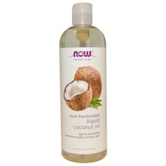 Кокосовое масло, Coconut Oil, Now Foods, Solutions, 473 мл - фото