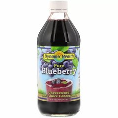 Черничный концентрат, Pure Blueberry, 100% Juice Concentrate, Dynamic Health Laboratories, 473 мл - фото