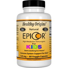 Эпикор для детей, EpiCor for Kids, Healthy Origins, 125 мг, 60 капсул - фото