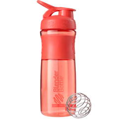 Шейкер SportMixer с шариком, Coral, Blender Bottle, 820 ml - фото