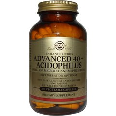 Комплекс пробиотиков Advanced Acidophilus 40+, Solgar, 120 капсул - фото
