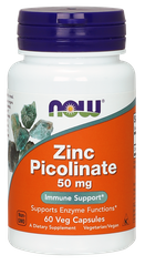 Цинка пиколинат, Zinc Picolinate, Now Foods, 50 мг 60 капсул - фото