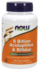 Комплекс пробиотиков 8 Billion Acidophilus & Bifidus, 120 капсул - фото
