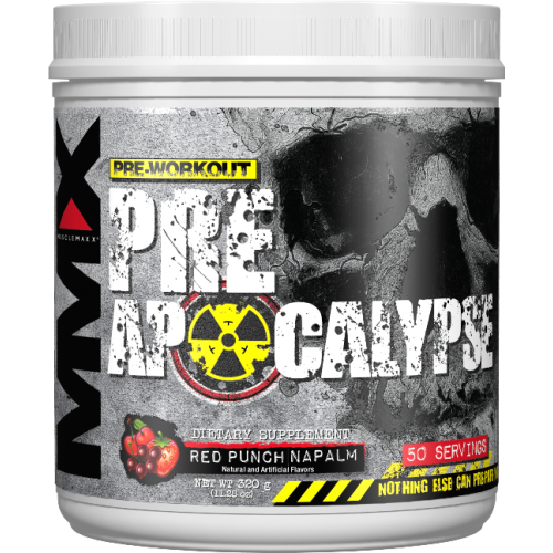 Энергетик Muscle Maxx Apocalypse Pre-Workout Red Punch, 320 г - фото