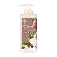Лосьон для тела с маслом Ши, 300 мл, Milk & Shea, Butter Oil, The Face Shop, Infused Body Lotion - фото