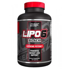 Жиросжигатель, Lipo-6 Black Extreme Potency, 60 капсул - фото